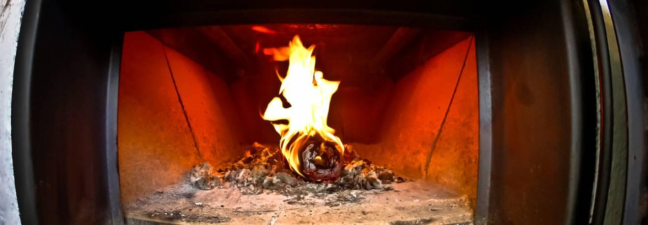 Handbrot Ofen Feuer